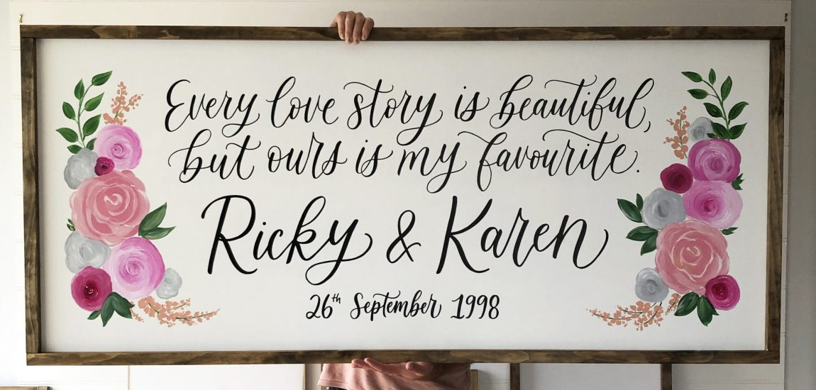 Ricky and Karen Sign